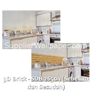 3D Brick - SDB 26504 (Sebelum dan Sesudah)