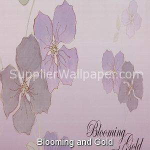 Wallpaper Blooming and Gold