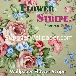 Wallpaper Flower Stripe